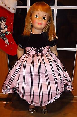 """Beautiful Retro Pink & Black Dress For 35"""" Patti Playpal Doll Clothes Sweet!!"""