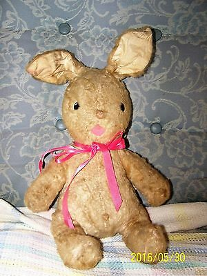 Vintage Gund Plush Bunny Rabbit  With Chimes / 15'' Tall Not Counting Ears