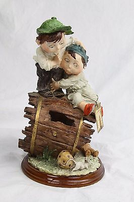 Handcrafted Duncan Royal art collection capodimonte style figurine Boy & Sister