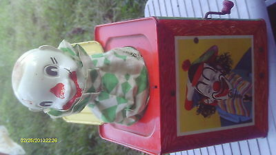 Vintage Jack Clown In The Box  Nice Box 507 Made In 1953 In Canada Mattel Crank