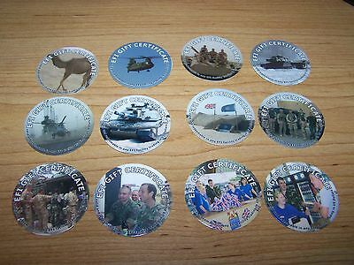 BRITHISH  EFI  1st Print  25 Cents  full set of all 12  Pogs  from 2004  RARE