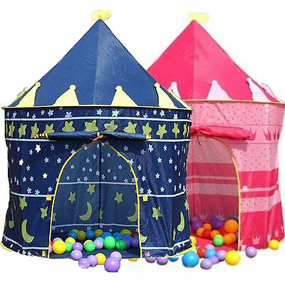 Prince Princess Childrens Girls Kids Popup Castle Play Tent House Outdoor Garden