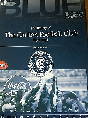 AFL - The History of the Carlton Football Club Hardcover Book