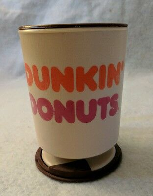 Dunkin Donuts Plastic Travel Mug W/Lid And Dashboard Mount Vintage Coffee