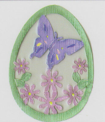 Bosskut Butterfly Easter Egg die - for use in most cutting systems