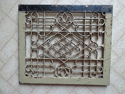 "Cast Iron Floor Victorian Register Heat Grate Grill Architectural 13 3/4"" x 12"""