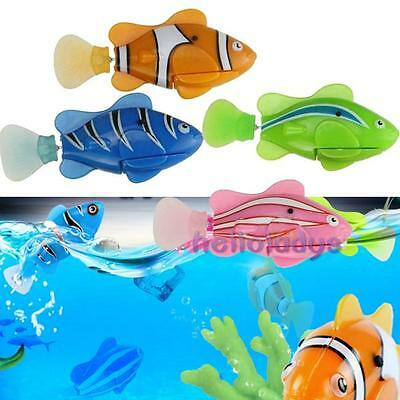 Cute Electronic Fish Robofish Activated Battery Powered Robo Toy Robotic Pet New