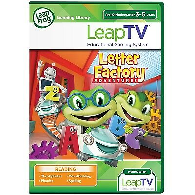 LeapFrog LeapTV Letter Factory Adventures A to Z Educational, Active Video Game