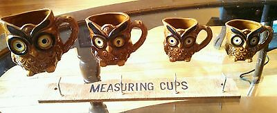 Owl Measuring Cups Ceramic from Japan - Complete Set with Original Wall Hanger