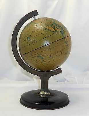 VINTAGE TIN WORLD GLOBE CIRCA 1930's  - MADE BY  RELIABLE SERVICES ENGLAND