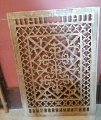 Large Vintage Cast Iron Air Return Floor Grate 18 1/4 X 26 1/4  ,25+ lbs.
