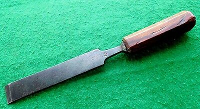 "Vintage 1 1/4"" heavy duty Sorby timber framing wood chisel  /1617"