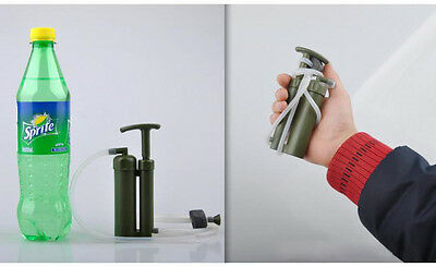 New Mini Portable Soldier Pump Backpacking Water Filter Purifier Hiking Camping