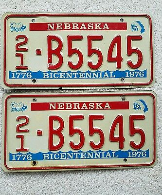 Nebraska Bicentennial License Plates