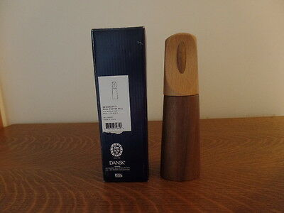 Dansk Designart Teak and Cherry Wood Pepper Mill New with Box and Tag