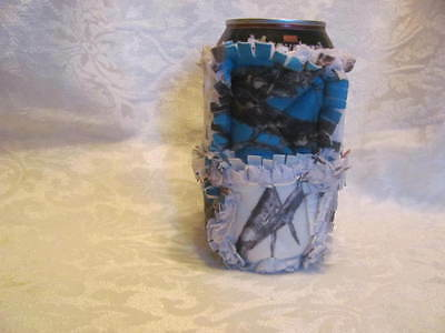 New Blue and White True Timber Camo Inspired 12oz Beer/Pop Can Cover Can Cozy