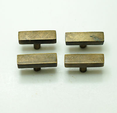 Lot of 4 pcs Vintage Retro Solid Bar Knob Solid Brass Cabinet Pull Handle Knobs