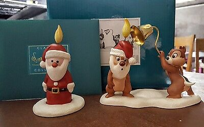 """WDCC Pluto's Christmas Tree Chip n' Dale & Santa Candle """"Little Mischief Makers"""""""