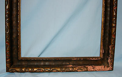 Vintage or Antique Stained Wood Picture Art Mirror Frame