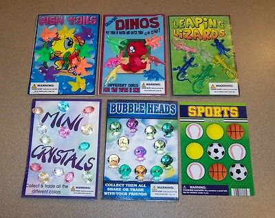 Gumball Machine Vending Header Toy Prize Charm - 5 Toy Display Cards, 1 Sheet