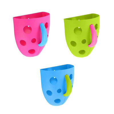 New Funny Security Plastic Baby Kids Bath Toy Scoop Storage Hanging box WS