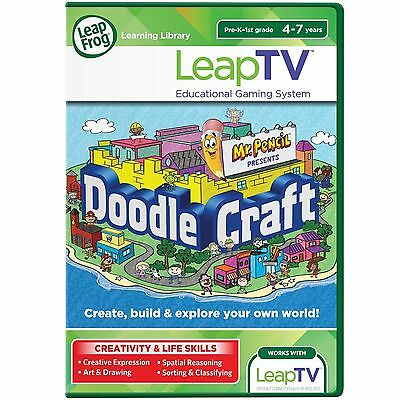LeapFrog LeapTV Game Doodlecraft Starring Mr. Pencil 4-7 years