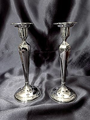"""Sterling Silver Candle Sticks 8 1/4"""" For C D Peacock, Chicago, By Matthews"""