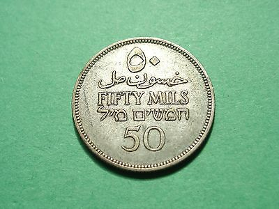 Palestine 50 Mils 1927 Silver Coin High Grade Condition