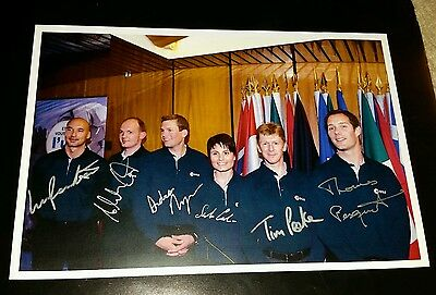 Esa - European Astronauts - Group Signed Photo - Signed By 6 Astronauts