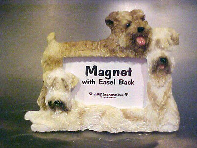 Soft Coated Wheaten Terrier ~ Magnet Picture Frame With Easel Back # 46