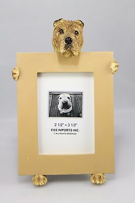 SHAR PEI ~   brown picture frame  #96
