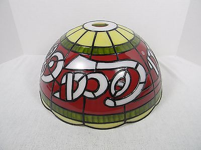 Coca-Cola Tiffany Style Stained Glass Plastic Lamp Shade