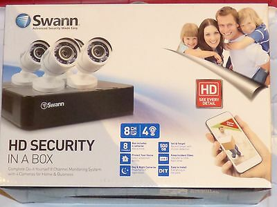 NEW Swann Complete HD Security In a Box 8 Channel 4 Cameras 500GB