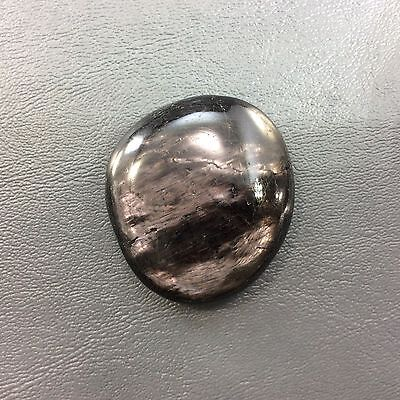 Polished Hypersthene Smooth Palm Stone 161114 Happiness Metaphysical Healing