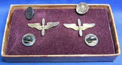 WWII Army Air Corps Air Forces Officer Wings Insignia Set With Box by Balfour