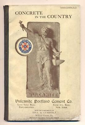 c1910 VULCANITE PORTLAND CEMENT CO. ARCHITECTURE INSTRUCTION ADVERTISEMENT BOOK
