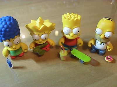Kidrobot The Simpsons , Homer , Marge , Bart & Lisa  All With Accessories .