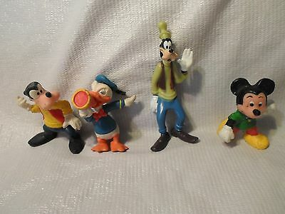"""Disney World Toys Plastic Characters Mickey Goofy Donald Duck 3"""" Toy Figures"""