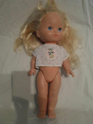 Mattel Blond Haired Hard Resin Doll Vintage Heavy Duty Toy