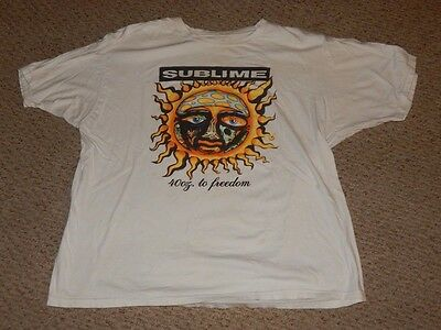 Vintage Sublime 40 oz to Freedom rock n roll concert T Shirt FREE SHIPPING