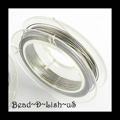 0.38mm / 0.45mm SILVER TIGER TAIL WIRE Beading jewellery DIY 10 metre rolls