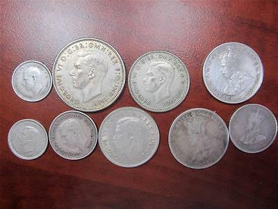 AUSTRALIA Foreign Coin Mix Lot Florin Shilling Pence Ungraded Cond G/VF Item1994