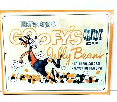 Disney Park Goofy's Candy Co. Jelly Beans Wooden Wall Advertisement Sign
