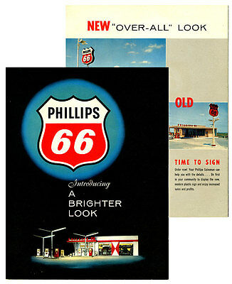 """Early 1960's Phillips 66 """"A Brighter Look"""" Brochure"""