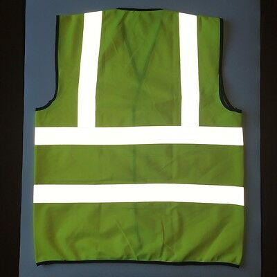 Yellow High Visibility Safety Vest with Reflective Strips Neon XXL Size ANSI