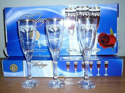 Set of 12 Vintage 6 oz Champagne Flutes Glasses