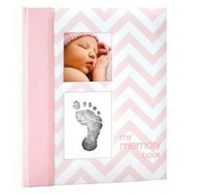 NEW Baby book Record Milestones & Record First Chevron Pink #`PH35117
