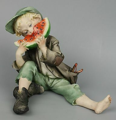 "Capodimonte Giuseppe Cappe figurine 99005 ""Watermelon Boy"" MINT WorldWide"