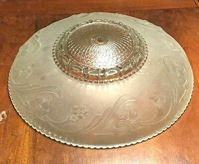 Vintage Heavy glass ceiling light cover 1 hole Flowers