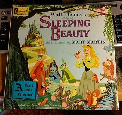 Walt Disney's Sleeping Beauty Story & Songs + Picture Book 3911 1958 Mary Martin
